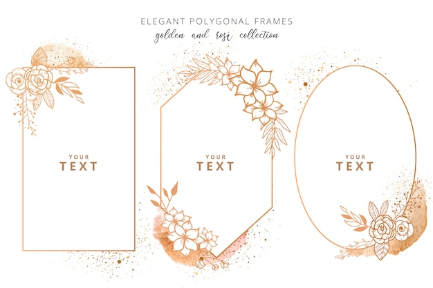 Elegant polygonal frame collection