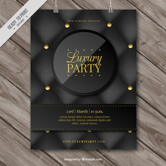 Элегантный плакат роскошной партии