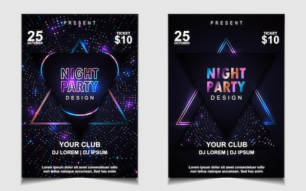 Элегантный шаблон плаката для фестиваля электронной музыки с ярким светом