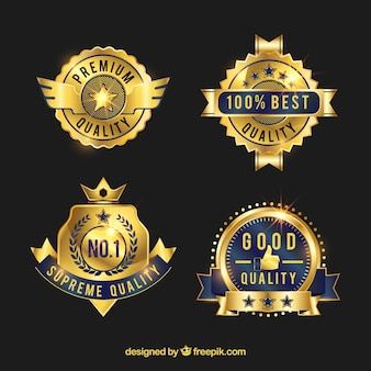 Elegant premium golden stickers