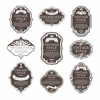 Elegant premium labels set collection