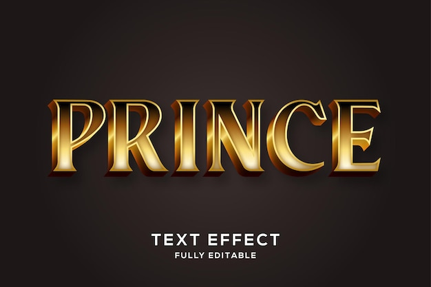 Элегантный принц 3d текстовый эффект