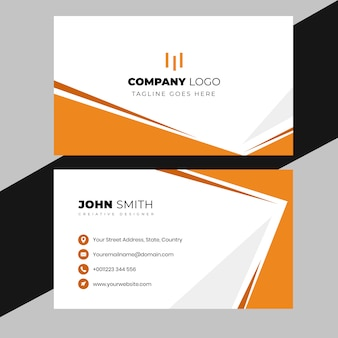 Elegant professional visiting card design