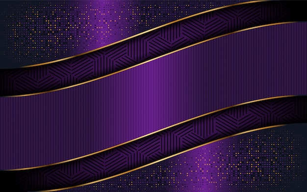 Elegant purple background with luxurious line shape
