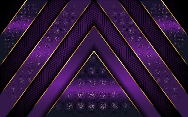 Elegant purple background with luxurious line shape