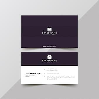 Elegant purple business card template