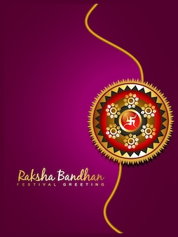 Elegant purple design for raksha bandhan