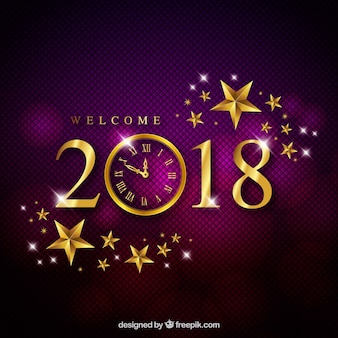 Elegant purple new year background