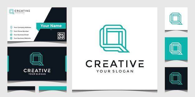 エレガントなq文字のロゴのインスピレーション