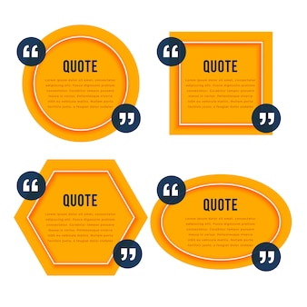 Elegant quotation yellow boxes template design