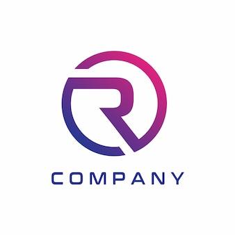 우아한 r 로고 디자인