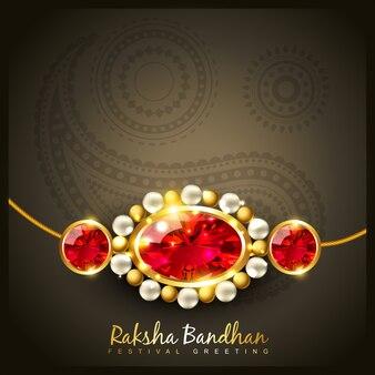 Elegant raksha bandhan design