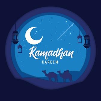 Элегантный декоративный фестиваль рамадан карим фон