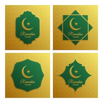 Элегантный рамадан карим декоративный праздник карты.