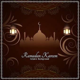 Элегантный рамадан карим исламский фон