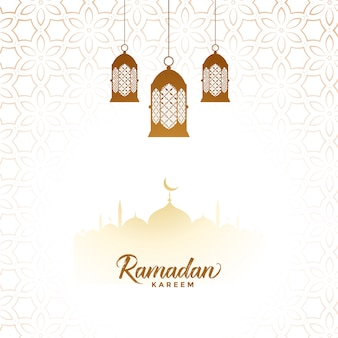 Elegant ramadan kareem islamic lantern decorative background