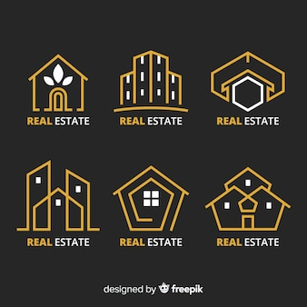 Elegant real estate logo collection