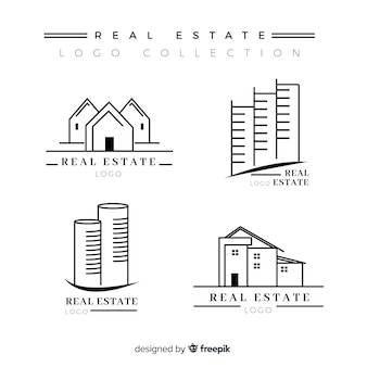 Elegant real estate logo collection