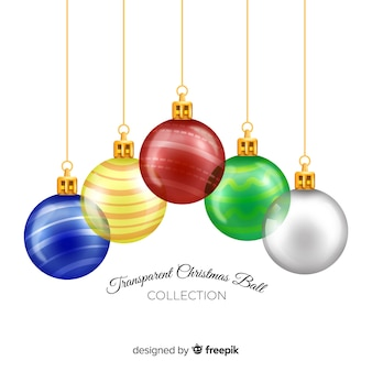 Elegant and realistic christmas ball collection