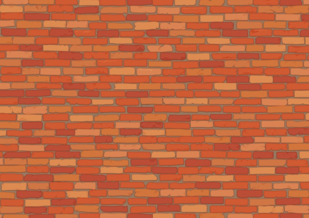 Elegant realistic red brick wall background texture.