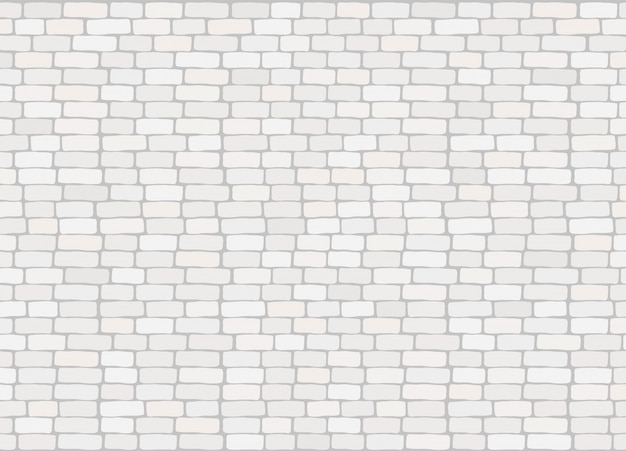 Elegant realistic trendy white brick wall background texture