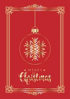 우아한 빨간색과 금색 크리스마스