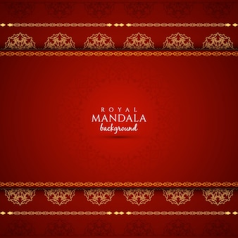 Elegant red background with mandala design