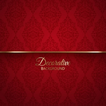 Elegant red background with ornaments