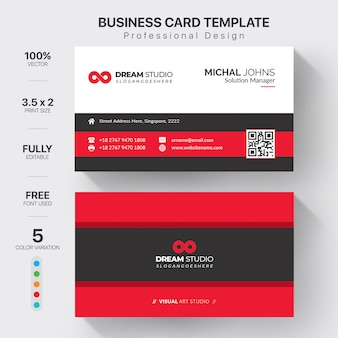 Elegant red business card