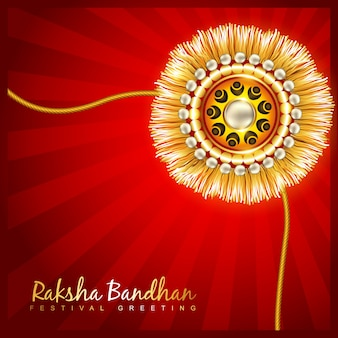 Elegant red design for raksha bandhan