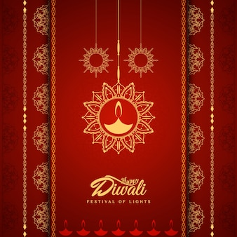 Elegant red diwali design