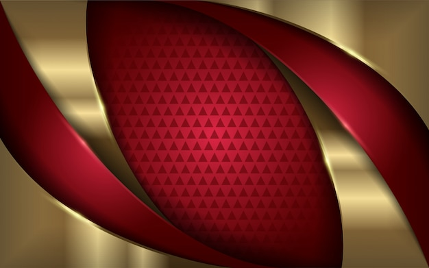 Elegant red and gold modern background