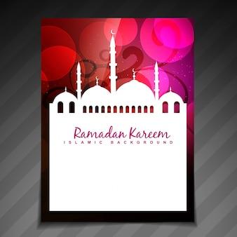 Elegant red and pink design for ramadan kareem