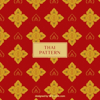 Elegant red thai pattern