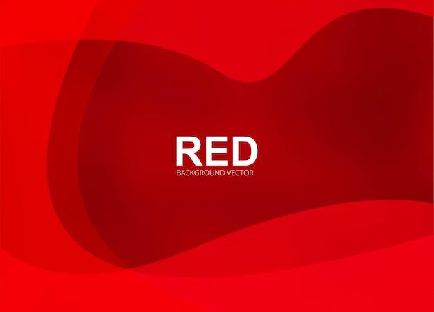Элегантный красный волнистый творческий фон