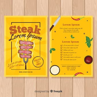 Elegant restaurant flyer template