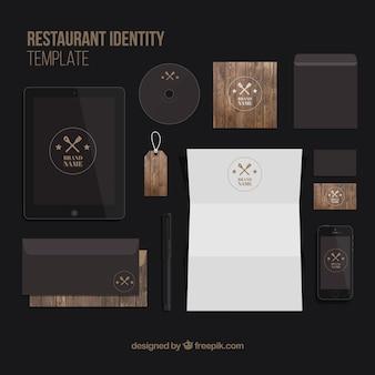 Шаблон личности элегантный ресторан