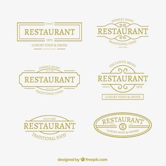 우아한 레스토랑 로고