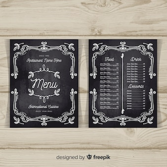Chalkboard Menu Vectors, Photos and PSD files | Free Download