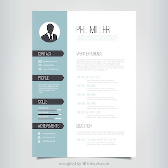 illustrator resume templates cv template vectors photos and psd files free 22533