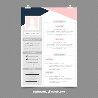 Resume Template Adobe Illustrator 32