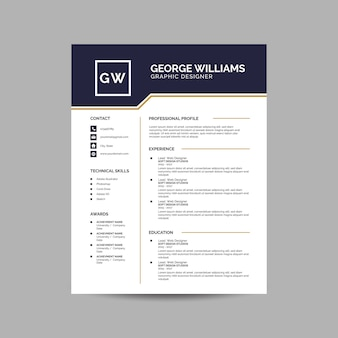Elegant resume template