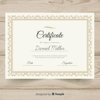Elegant retro certificate template