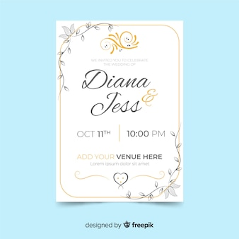 Elegant retro invitation template