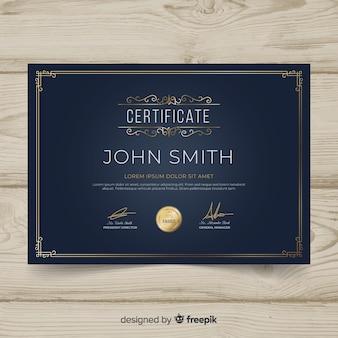 Elegant retro ornamental certificate template