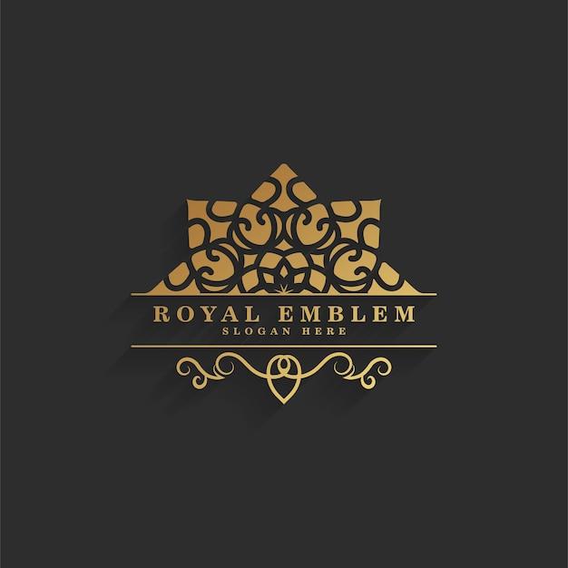 Элегантный ретро-орнамент с логотипом