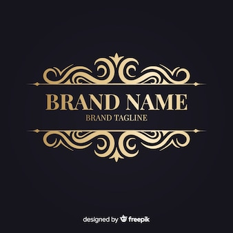 Elegant retro ornamental logo