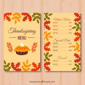 Elegant retro thanksgiving menu