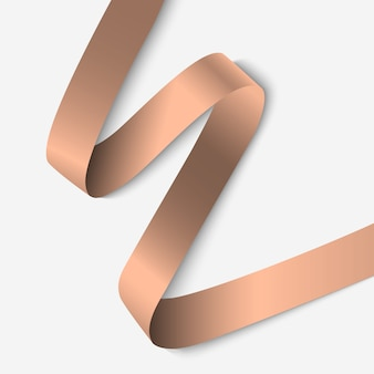 Elegant ribbon banner with shadow