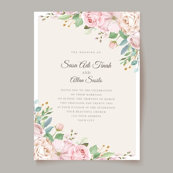 Elegant roses wedding invitation theme